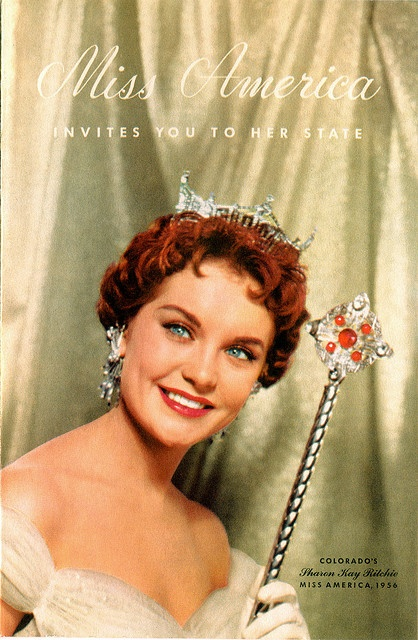 Miss America, 1956, Colorado Tourism Brochure -    Sharon Kay Ritchie, Miss Colorado of 1956 who became Miss America, is pictured inside the brochure.