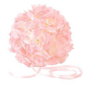 Boule fleurs artificielles rose pale.  Absolument magnifiques, ces boules de fleurs artificielles qui sublimeront vos décorations de salle, suspendues au plafond, sur vos chaises, bancs ou simplement posées sur vos tables, buffets, coupelles en verre, photophores hauts... Elles donneront vraiment une touche unique et classe à votre salle de réception.