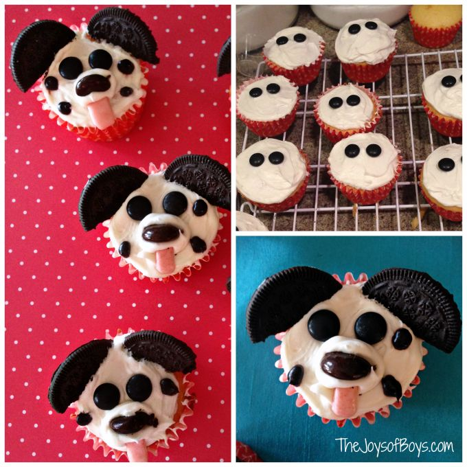 "Easy Puppy Cupcakes for Kids: ""Pupcakes"""