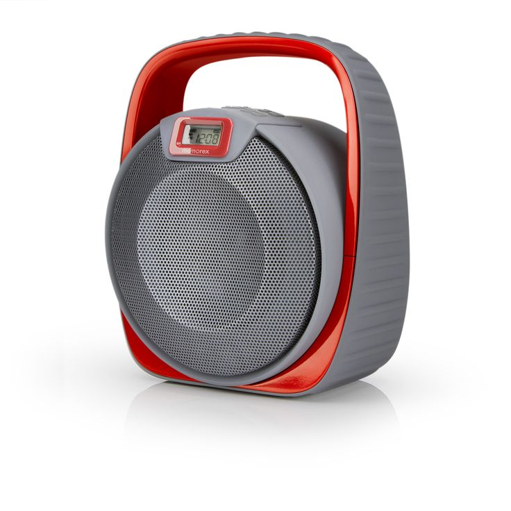 speakers in target. memorex waterproof bluetooth speaker 4000mah with powerbank - gray and red (mw601) speakers in target