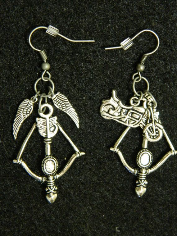 Daryl Dixon Inspired Earrings The Walking Dead by MagikalMommy, $11.89