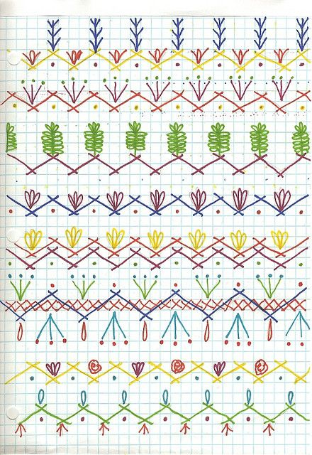 Seam Designs for crazy quilt