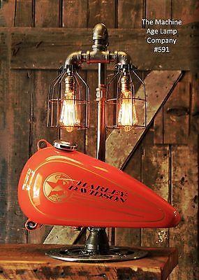 Steampunk Lamp Industrial Machine Age Harley Davidson