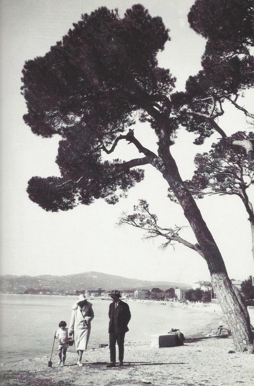 F. Scott, Zelda and Scottie Fitzgerald, 1920s - Juan-les-Pins, Antibes, France