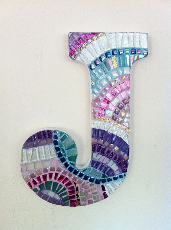 Mosaic Letter Monograms by Linda Purrazzella, via Behance