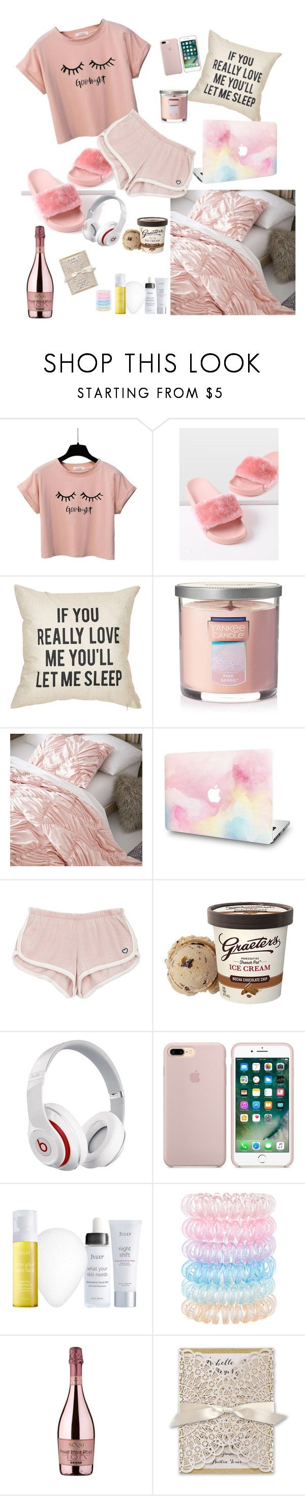 """""""Chill time"""" by jamielee-blackmore ❤ liked on Polyvore featuring Yankee Candle, PBteen, Beats by Dr. Dre, Julep, Accessorize and SENSI"""