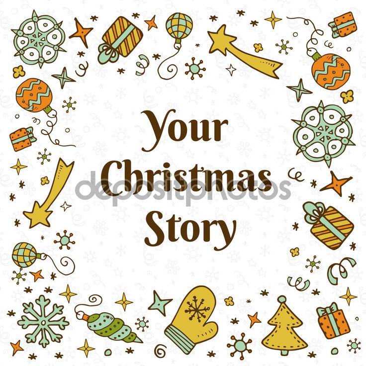 Фотообои Векторные рождественские каракули