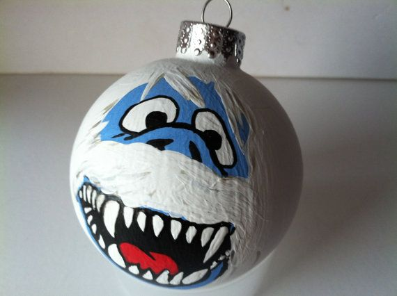 Snow Monster Ornament Rudolph the Red Nose Reindeer by GingerPots, $18.00