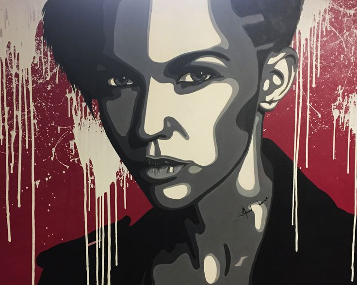 Ruby Rose Pop art by Halseth. www.halseth-art.com
