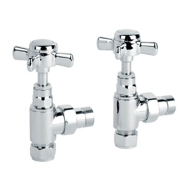 £18.95 Deluxe Traditional Angled Radiator Valves