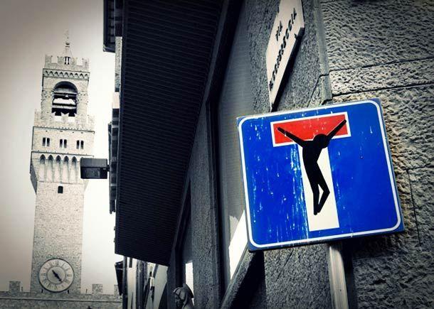 Panneaux de signalisation détournés - street art - http://www.2tout2rien.fr/panneaux-de-signalisation-detournes/