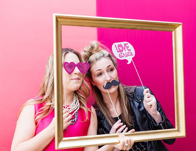 Pink Kate Spade Inspired Bridal Shower - photo booth!