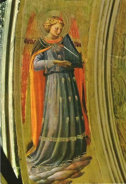 """ÓRGANO PORTATIVO Beato Angélico O.P. más conocido como Fra Angélico O.P. o Fray Juan de Fiésole O.P (Vicchio di Mugello (Florencia) 24 de junio de 1390 c. – Roma 18 de febrero de 1455), pintor cuatrocentista italiano que supo combinar la vida de fraile dominico con la de pintor consumado. Fue llamado Angélico por su temática religiosa, la serenidad de sus obras y porque era un hombre de extraordinaria devoción. Fue beatificado por Juan Pablo II en 1982 pasando a ser el """"Beato Fra Angélico""""…"""