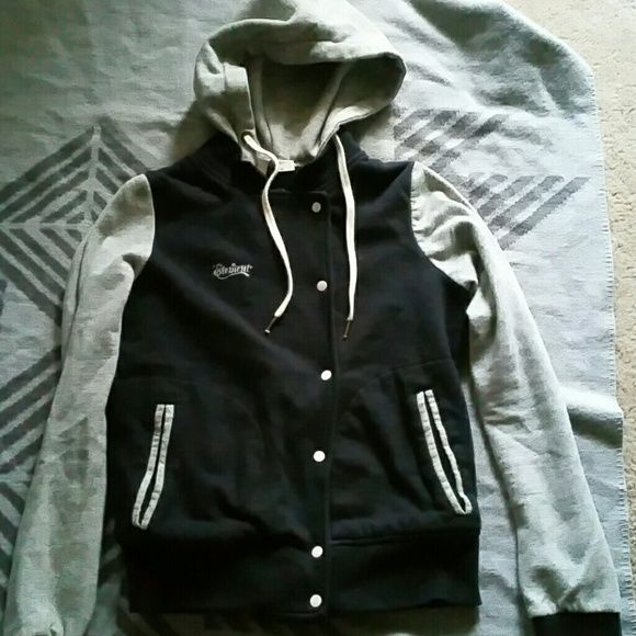 Element Jacket Skate hoodie, sz. M Black and grey button up soft jacket/hoodie,  size medium element Jackets & Coats