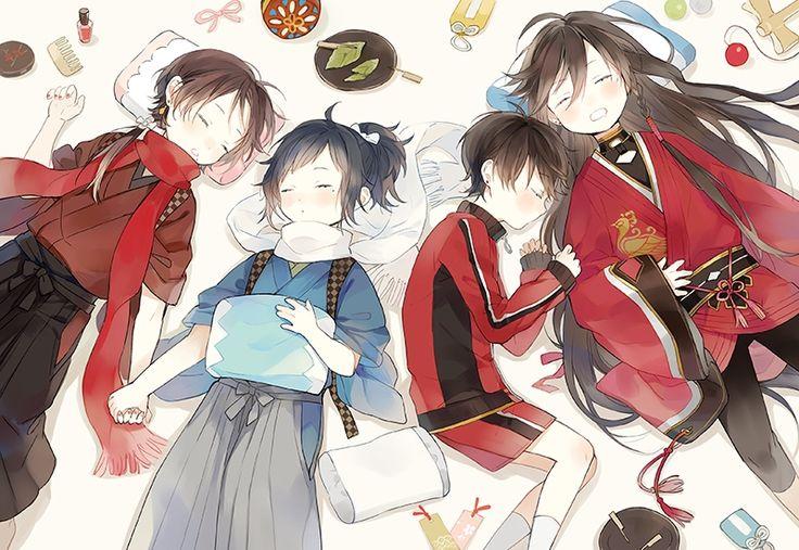 Horikawa Kunihiro, Yamato no Kami Yasusada, Izumi no Kami Kanesada, Kashuu Kiyomitsu