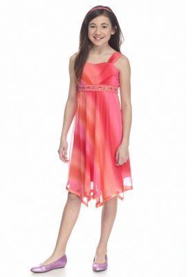Speechless  Ombre Handkerchief Hem Dress Girls 7-16