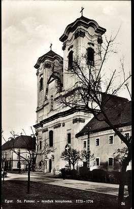 1932. Eger - Szeplőtelen Fogantatás Nagyboldogasszony Ferences (Barátok) templom | Képcsarnok | Hungaricana
