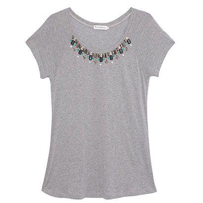 LE LIS BLANC DEUX T-shirt Renata bordada