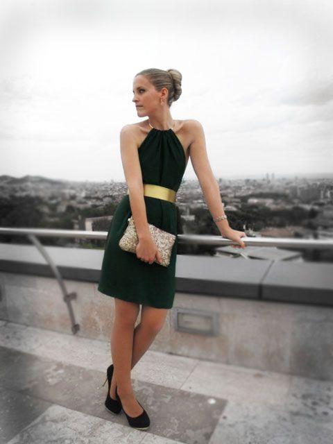 Vestido cocktail diseño Cecilia Olocco
