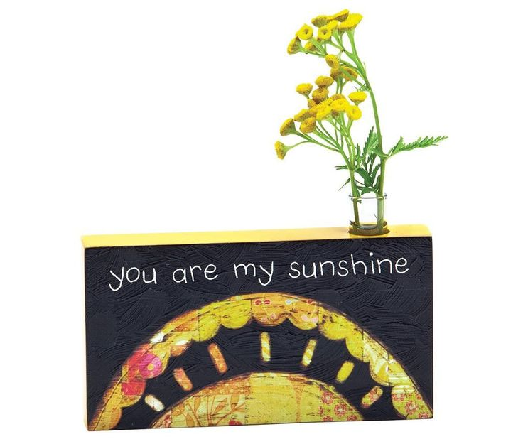 Vaza You Are My Sunshine .      Dimensiuni: lungime 16 cm/inaltime 10 cm     Greutate: 0.3 Kg     Material: MDF pictat, sticla