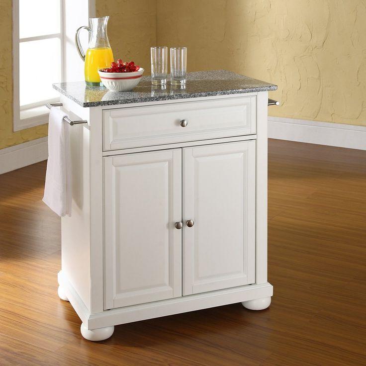 crosley alexandria solid granite top portable kitchen island 319 - Movable Kitchen Island Ideas