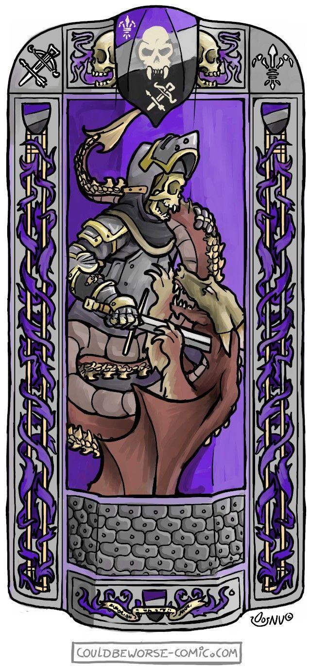 Larp group consept, pavise design. The Faithful Company of the Honourable Count Daveth of Saint Vitoria's Rest, conquest of mythodea untotes fleisch (undeath). Couldbeworse-comic.com