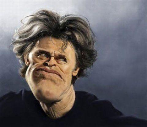 rare robin williams caricatures | Imagenes de caricaturas graciosas y divertidas: Willen Dafoe