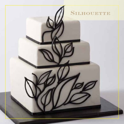 Silhouette cake by https://www.facebook.com/CIAchef ...