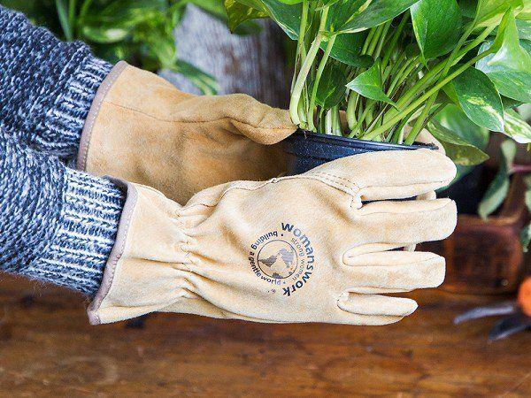 Womanswork - Work Gloves for Women - Designed by women gardeners for women's hands, these buttery soft leather gloves are Made in the USA and fit perfectly.