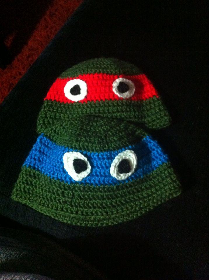 Gorro Tortugas Ninja crochet Cosetes Pinterest ...
