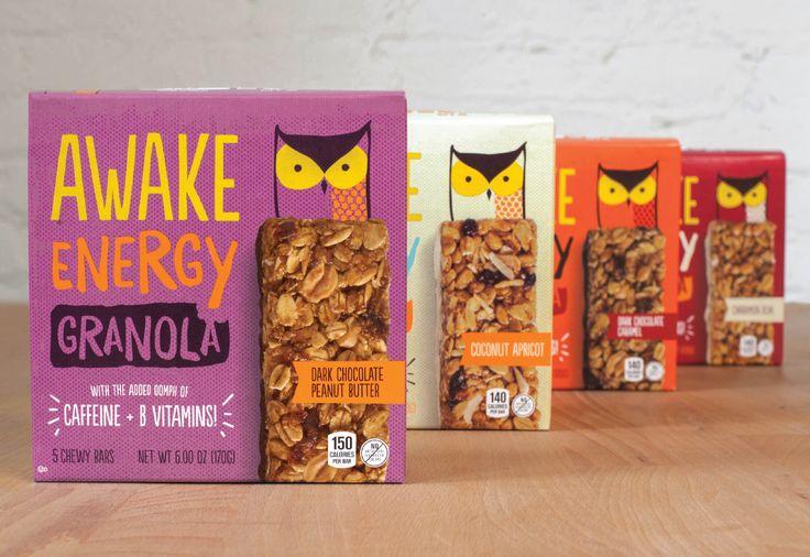 AWAKE Energy Granola — The Dieline - Branding & Packaging
