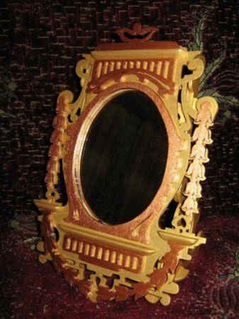 Настенные зеркала из фанеры