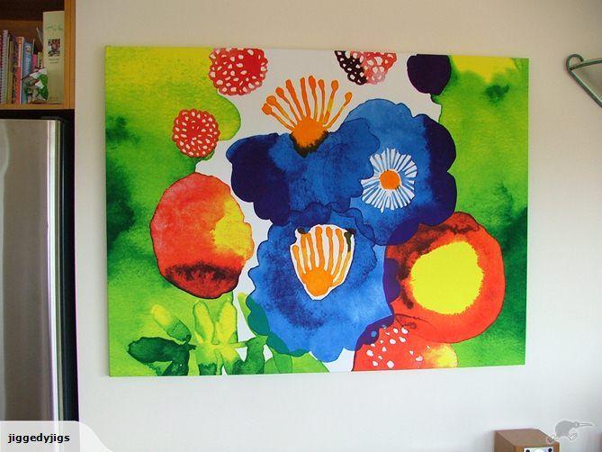 Canvas Wall Art - Marimekko Design 122cm x 91cm | Trade Me Fabric over Canvas
