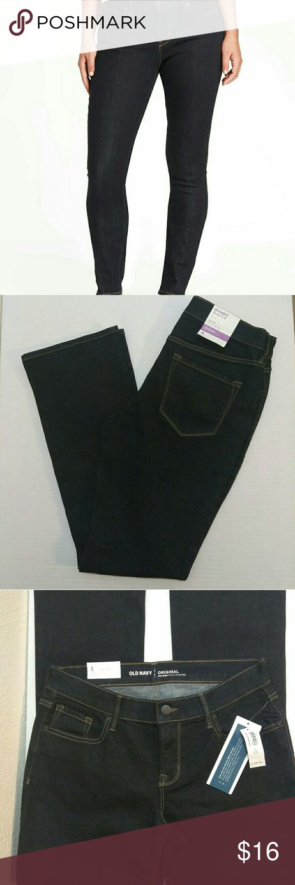 Old Navy Curvy Skinny Jeans Original Boot Cut Old  Navy Dark Rinse Mid Rise Curvy Skinny Jeans For Women...Waist:30 inches...Inseam:29.5 inches...Rise:9 inches...Hip:36 inches Old Navy Jeans Boot Cut