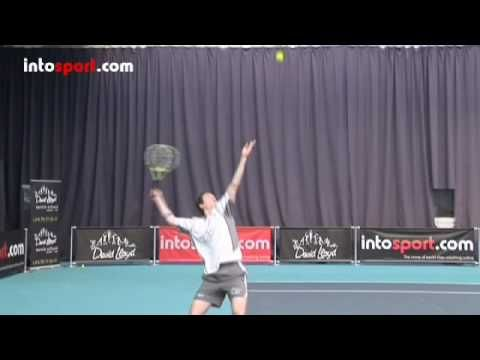 Tennis Serve- Slice Serve Technique - YouTube