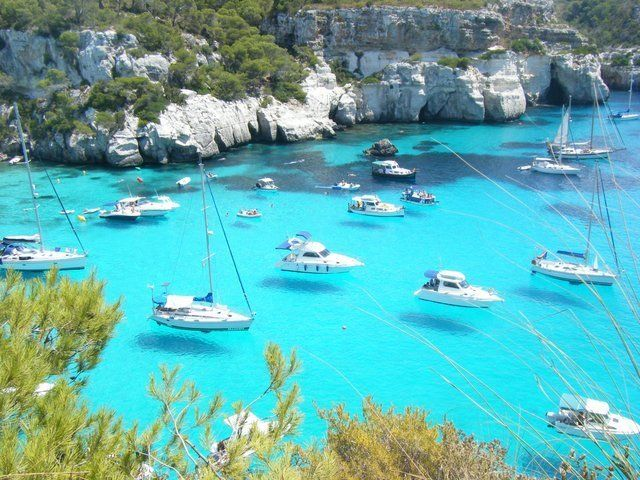 Menorca, Spain - now that is a ridiculous blue and unbelievable clarity. I feel like I'm hallucinating!!!