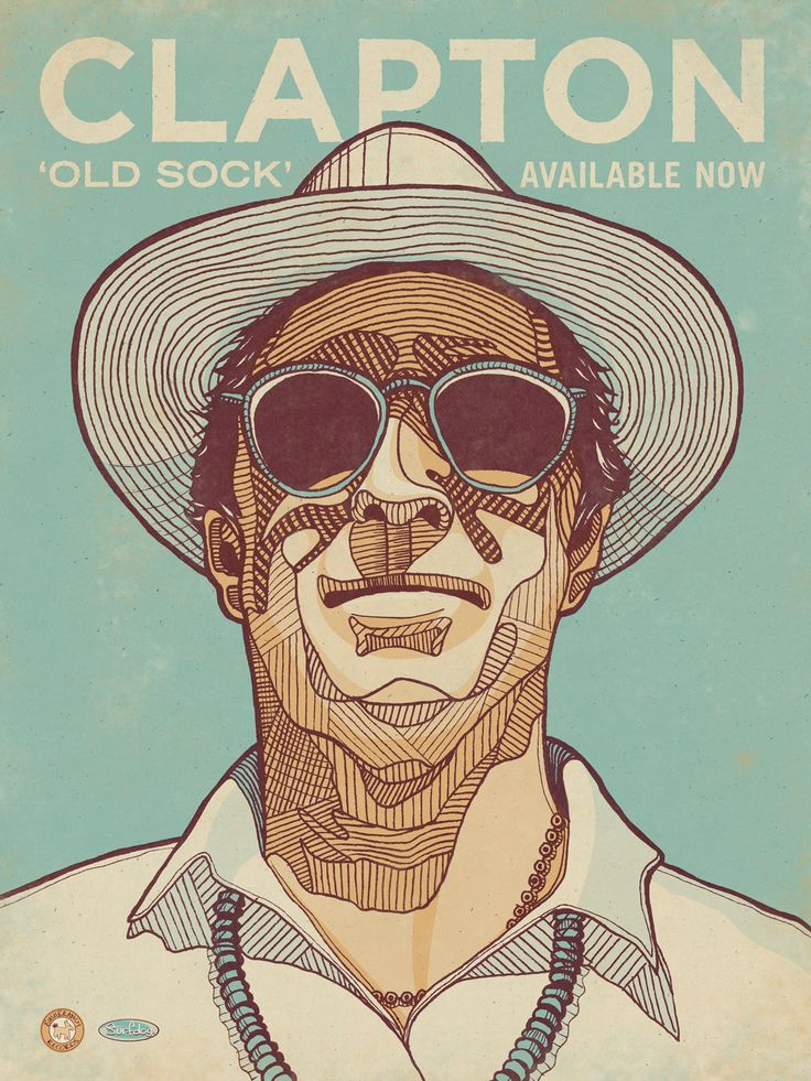 Eric Clapton's 'Old Sock' poster by DKNG