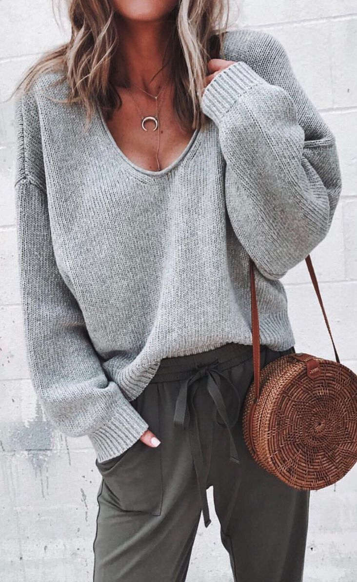 Comfy fall outfit...sweaterr & jogger