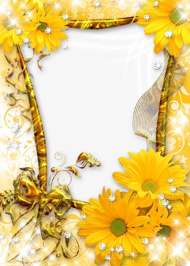 Gerber Clip Daisy Art Border