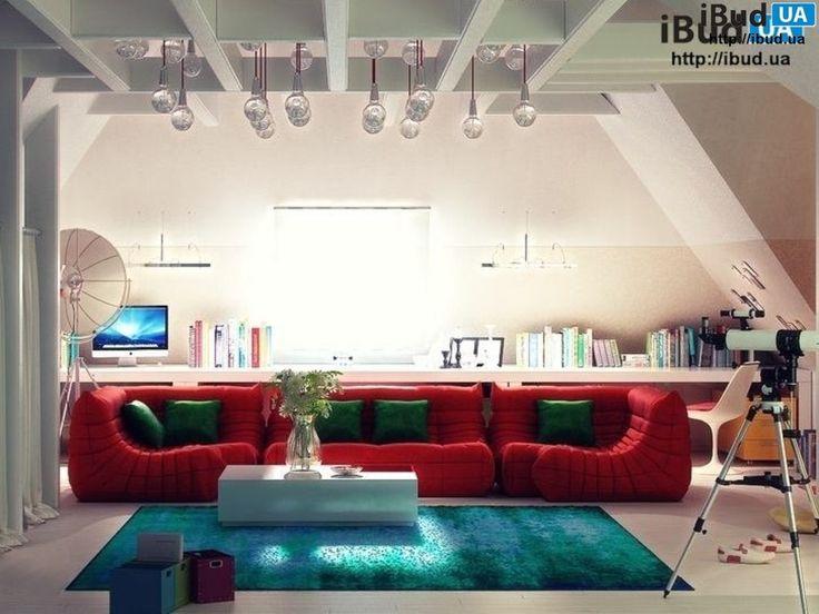 Комната отдыха на мансарде фото, Мансарды | ibud.ua