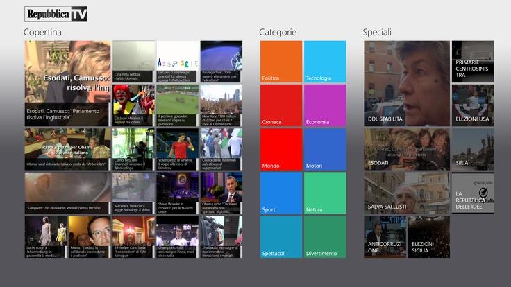 Vetrya al lancio del nuovo sistema operativo Microsoft Windows 8   con le applicazioni Repubblica TV e Gambero Rosso