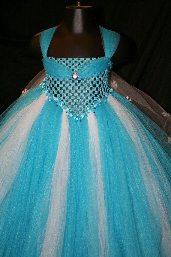 Frozen Inspired Tutu Dress Frozen Tutu by LittleMissTrendyTutu