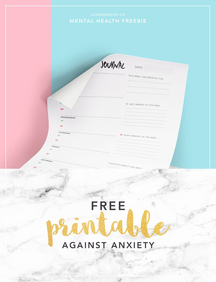 FREE printable against anxiety! I've been tracking my mood with this tool for…