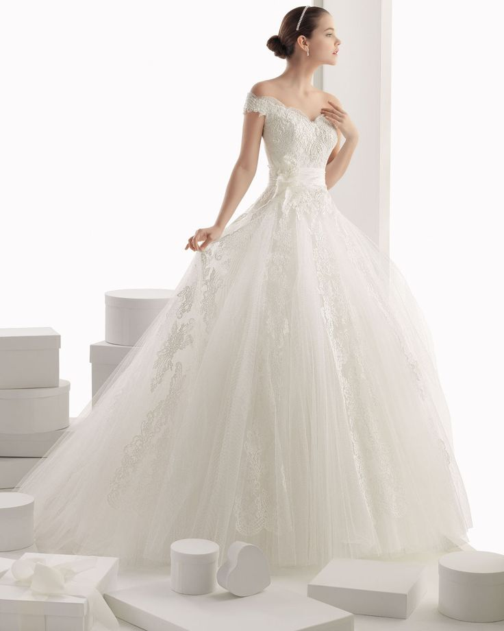 8WDSHOP.CO - Buy 2014 A Line Glamorous Off-The-Shoulder Ball Gown Lace Wedding Dress At Cheap Prices