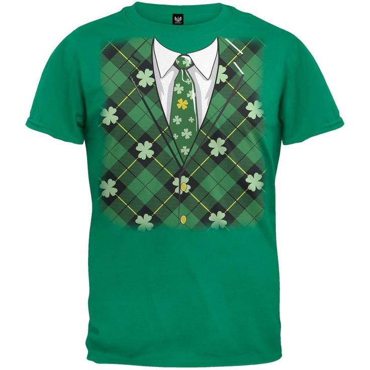St. Patricks Day - Irish Leprechaun Costume Green Adult T-Shirt