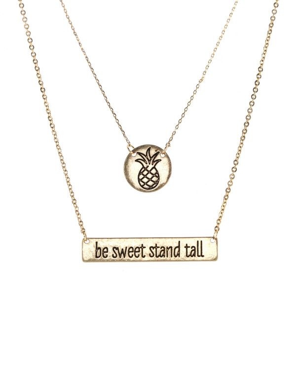 """In a world that seems to be constantly trying to cut you down and take away your innocence, let Wendy be a reminder to """"Be Sweet"""" and """"Stand Tall"""". Keeping it trendy with a cute little pineapple penda"""