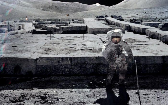 Astronautas de la misión Apolo fueron advertidos en la Luna? estructuras 'extraterrestres