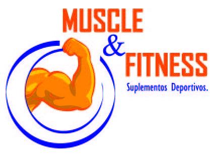 Logotipo para venta de suplementos deportivos Muscle and Fitness.