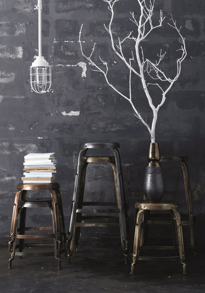 Simple life inspirations... for styling the Amazing Spaces Exbury Egg for George Clarkes Amazing Spaces Channel 4 Series and the book. Metal stool - high model