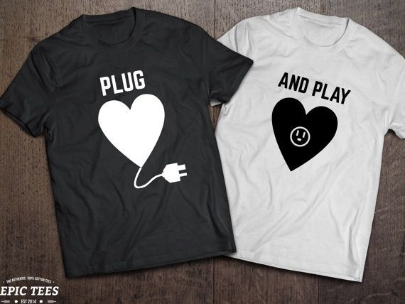 Valentine's day gift His and hers shirts His and by EpicTees4You